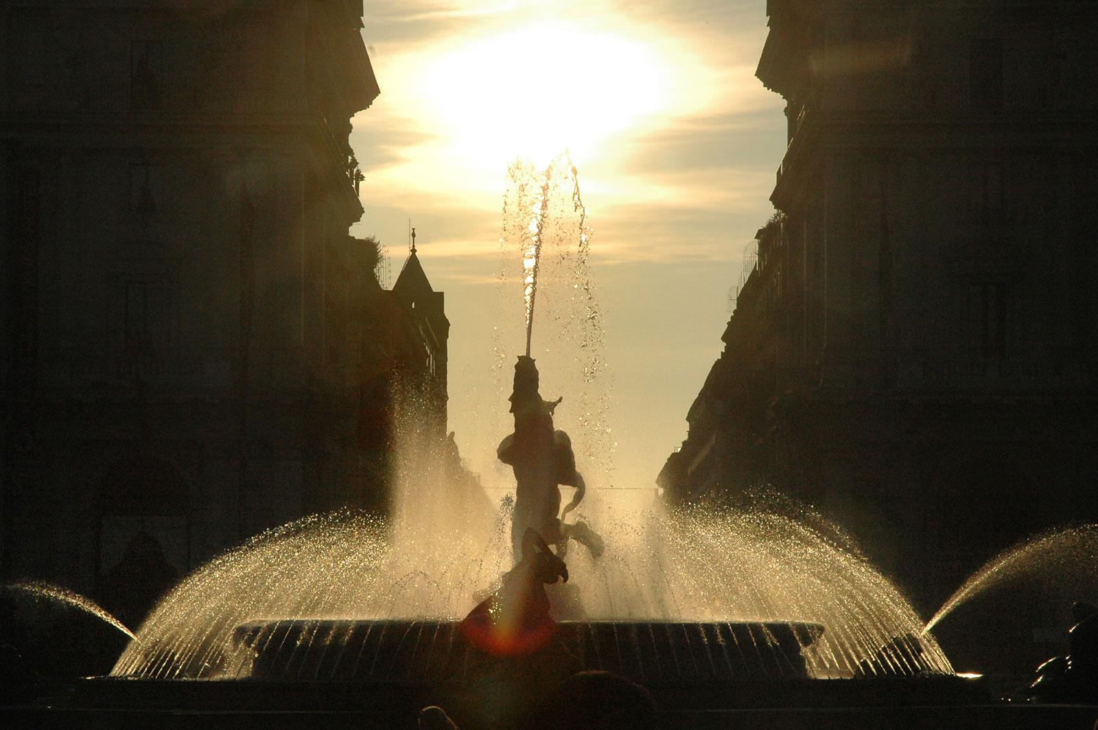 Fontana delle Naiadi a Piazza Esedra