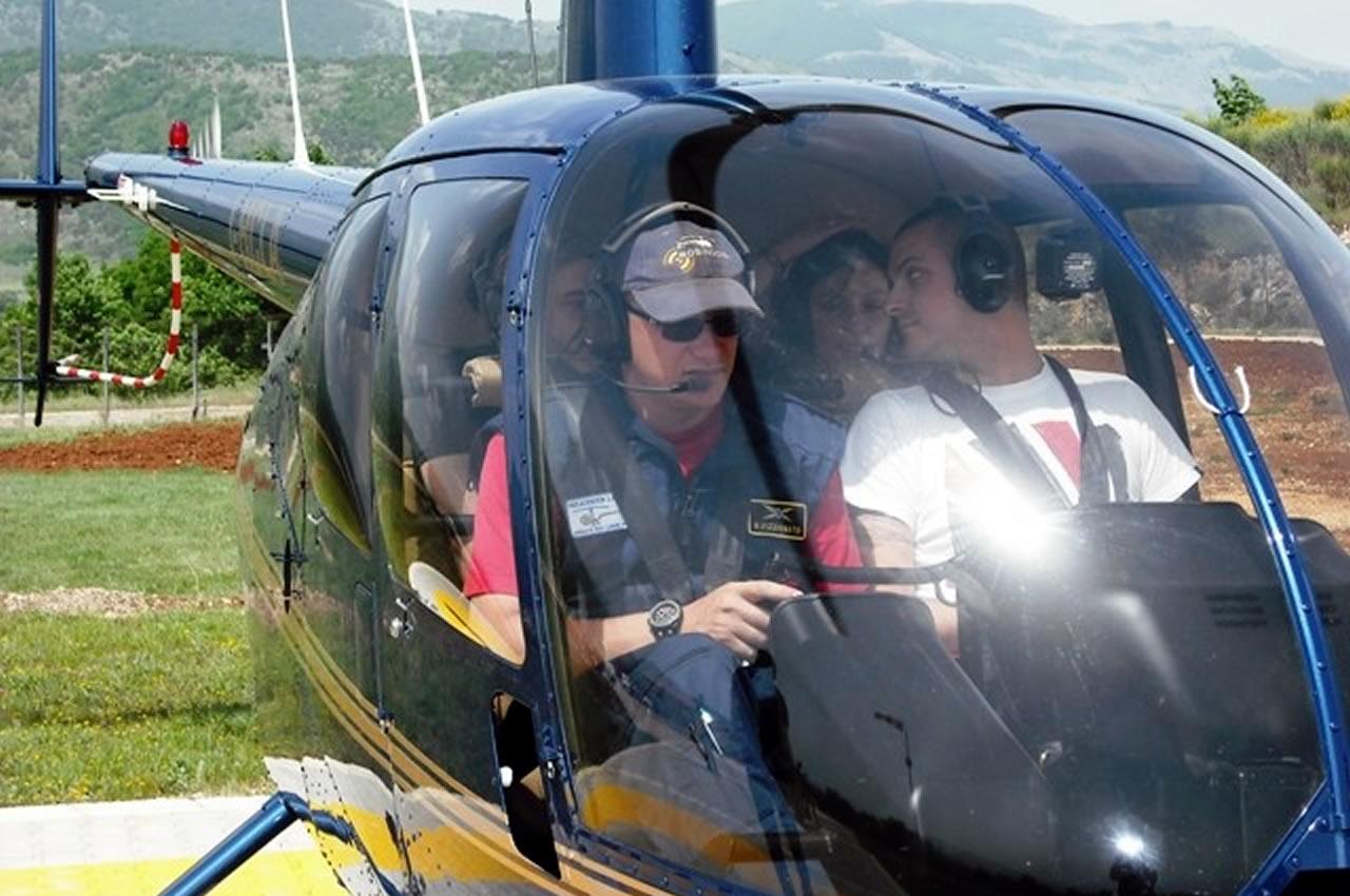organizzazione eventi - giro in elicottero