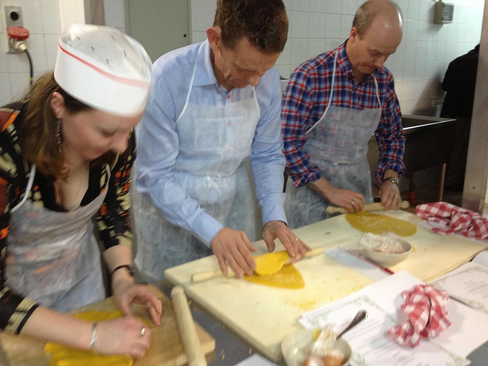 Preparazione pasta all'uovo